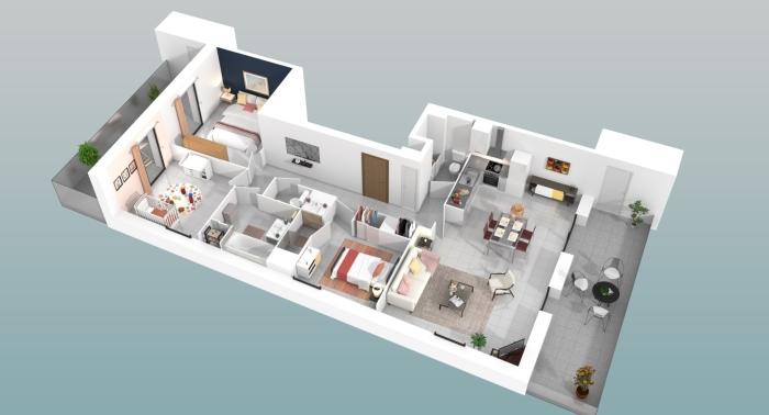 Appartements neufs Saint-Jean-de-Védas référence 4537 : aperçu n°2