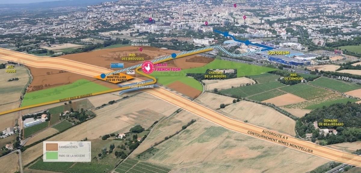 En lieu et place des champs, Cambacérès veut se faire la vitrine et le cœur économique de la ville