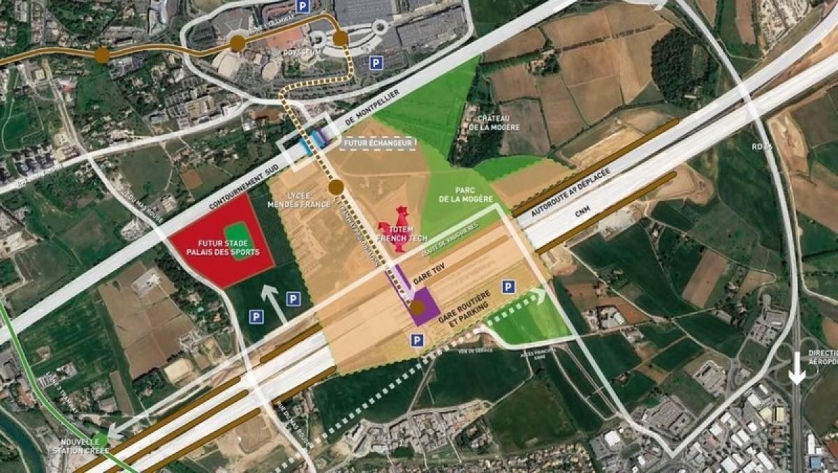 Cambacérès prévoit déjà de s'étendre à l'Ouest du lycée Mendès-France, pour un projet de stade et de palais des sports