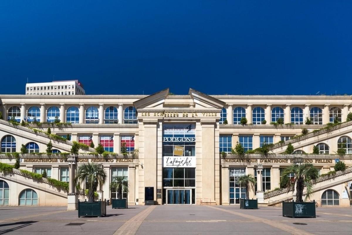Le centre commercial Polygone, au sein de l'ensemble Antigone