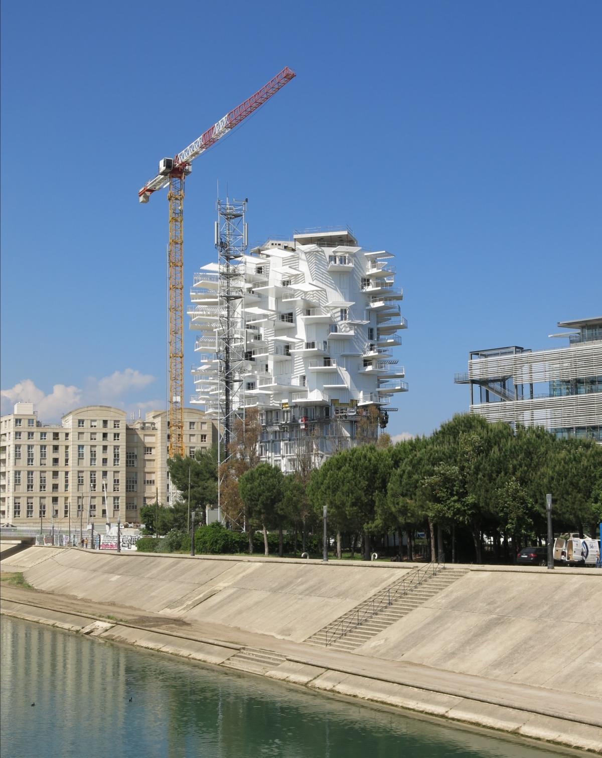 L'Arbre Blanc en construction à Montpellier