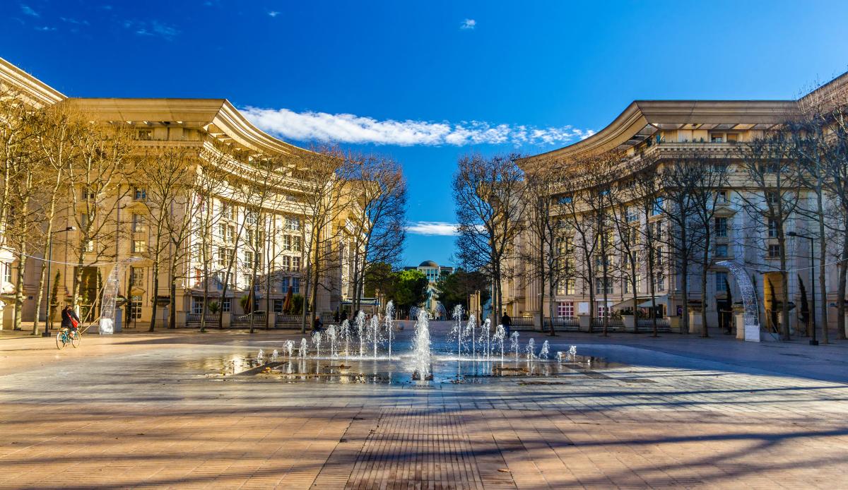 Montpellier architecture - La place du Nombre d'Or à Montpellier