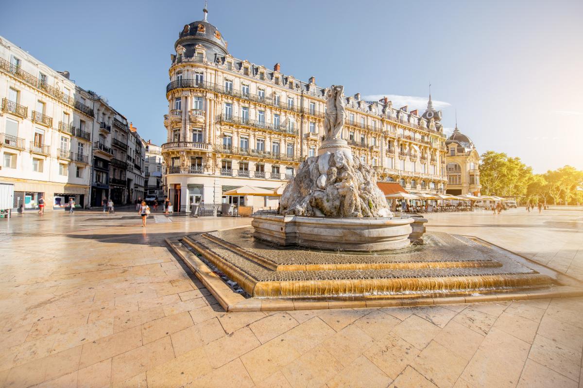 La fontaine des Trois Grâces, sur la place de la Comédie