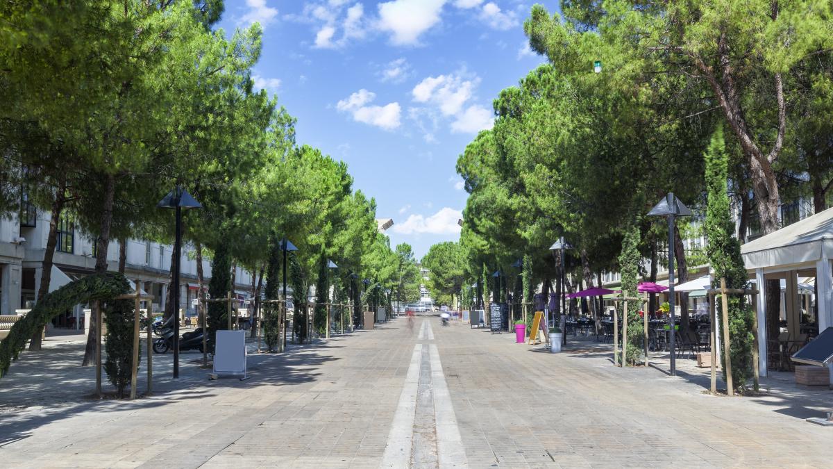 La place du Millénaire à Montpellier