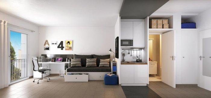 Appartements neufs Près d'Arènes référence 5116 : aperçu n°1