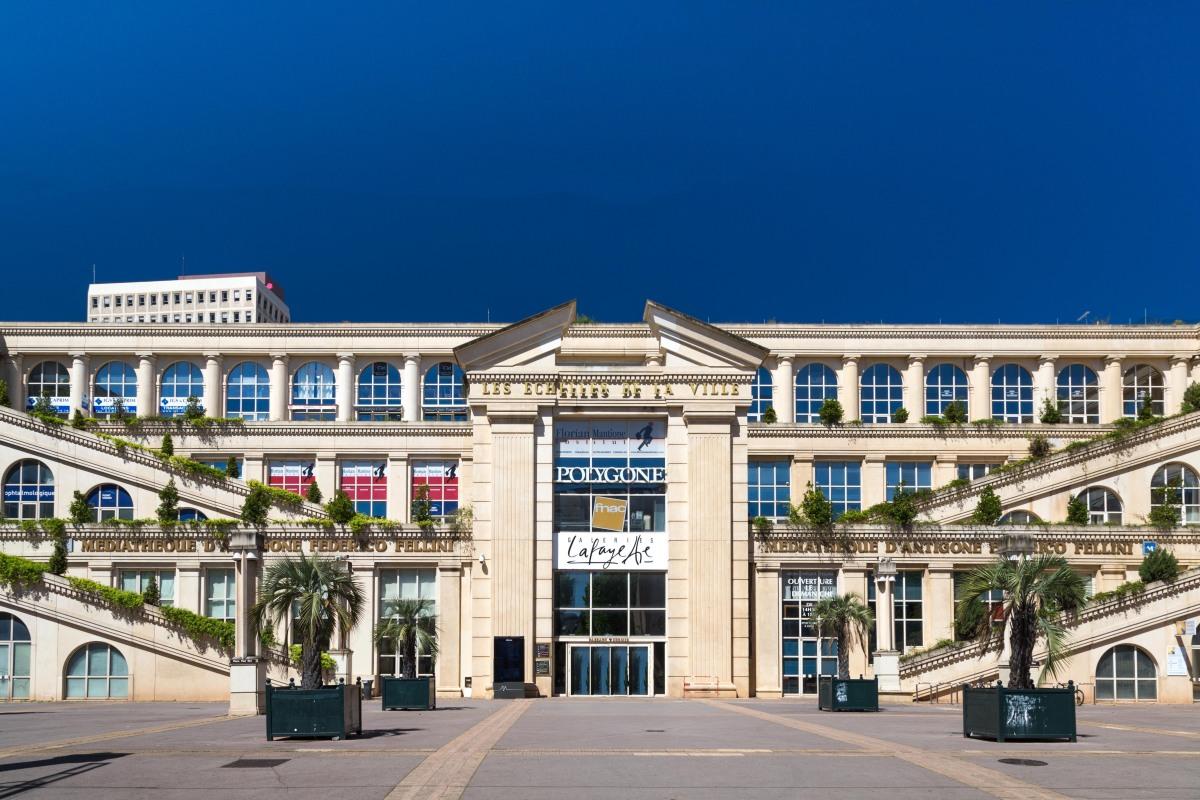 Le centre commercial Polygone à Montpellier