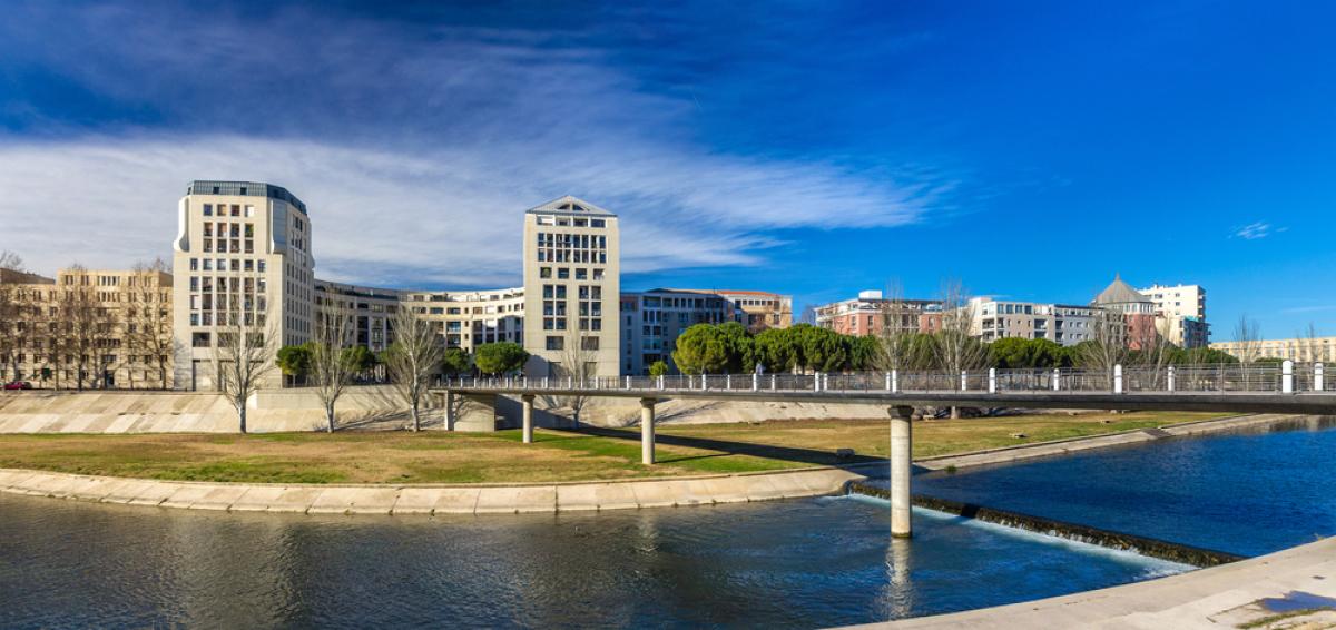 Immobilier moderne à Montpellier sur les bords du Lez