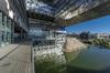 Montpellier architecture - Terrasse de l'hôtel de ville de Montpellier, réalisation de l'architecte Jean Nouvel