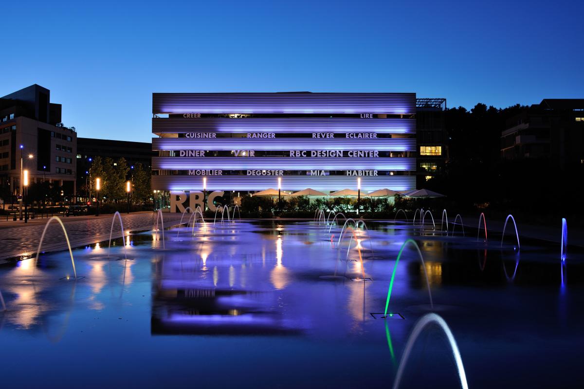Montpellier architecture - La boutique RDC Design de nuit à Montpellier