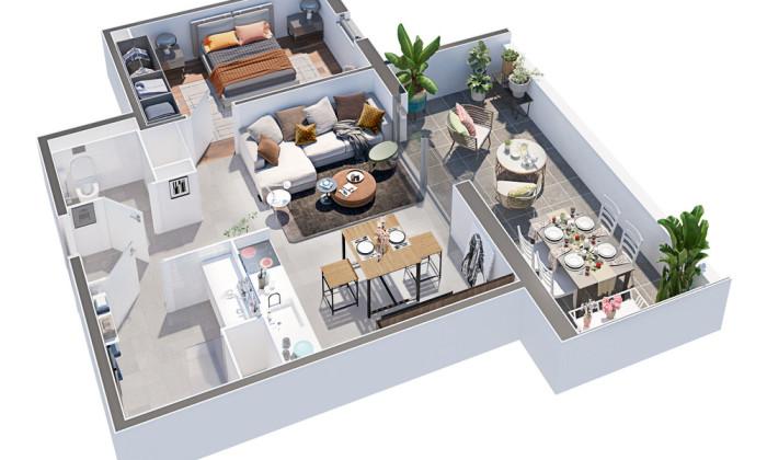 Appartements neufs Fabrègues référence 5206 : aperçu n°2