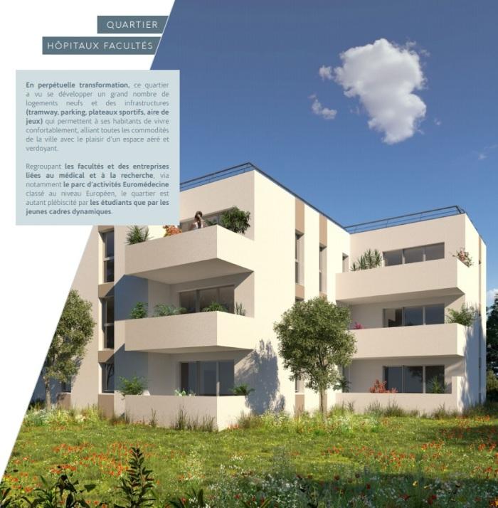 Appartements neufs Les Hôpitaux-Facultés référence 5532 : aperçu n°2