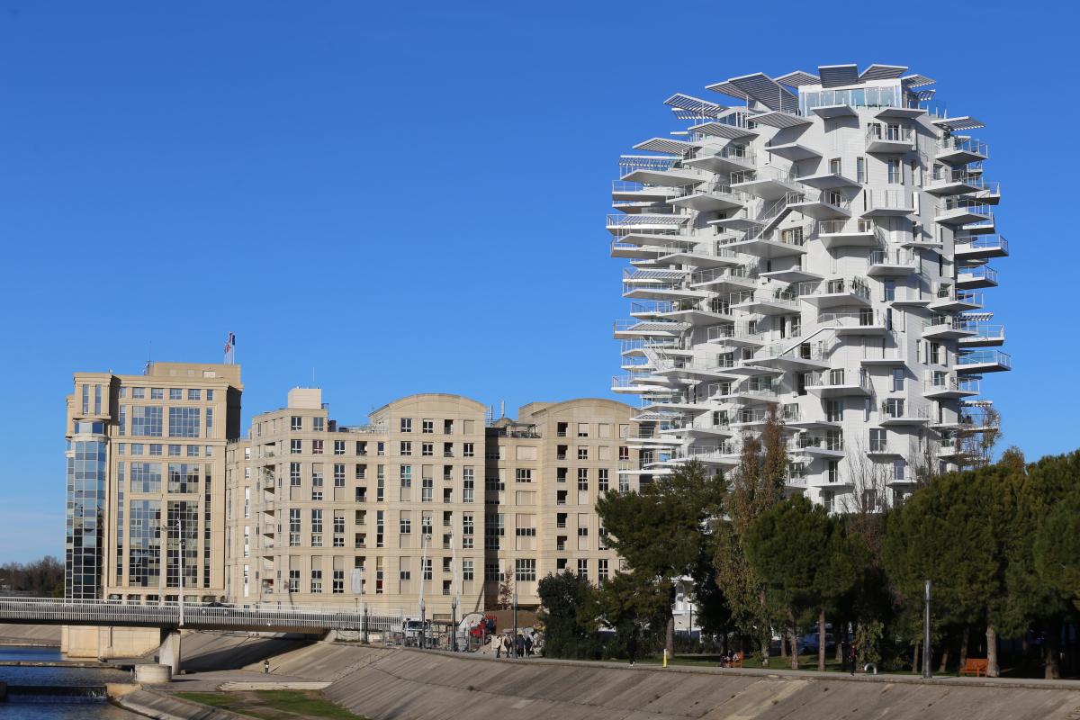 Montpellier architecture -L'Arbre Blanc à Montpellier