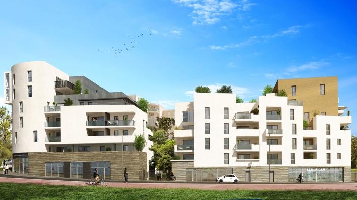 Appartements neufs La Pompignane référence 5544 : aperçu n°2