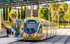 Tramway jaune à Montpellier