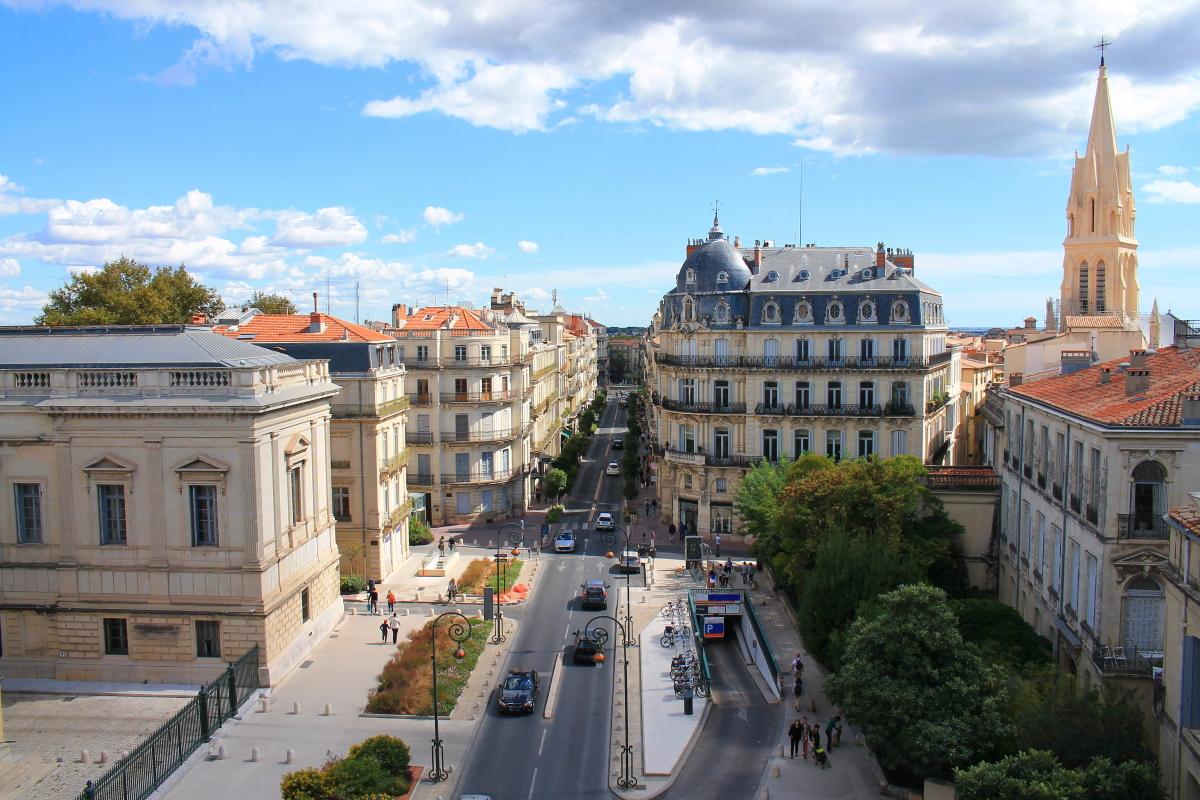 Montpellier zones Pinel – vue le centre historique de Montpellier