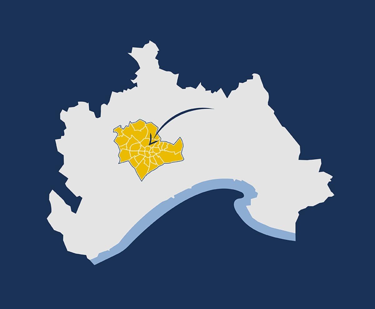 achat immobilier montpellier - Carte de Montpellier centre