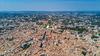 Taux immobilier à Montpellier et en Hérault – vue aérienne sur Montpellier