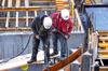 Des ouvriers sur un chantier