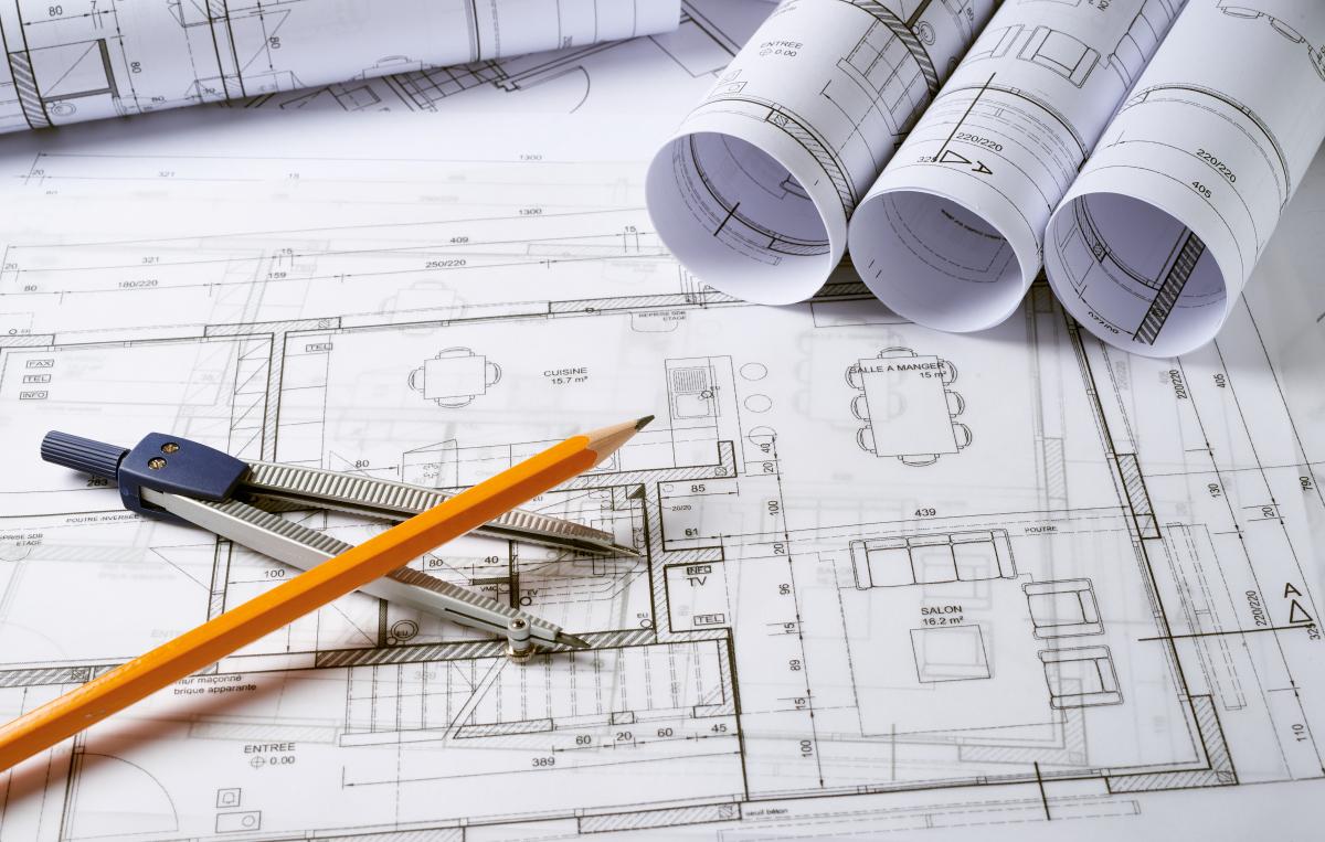 Des plans d'architecture
