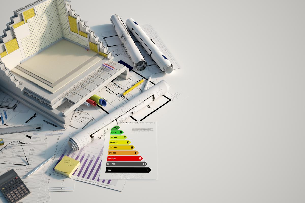 Des plans d'architectes et un bilan énergétique d'un logement
