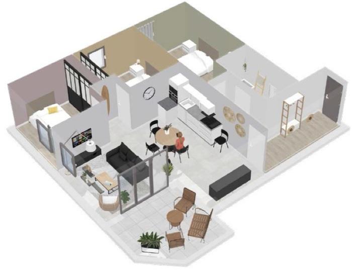 Appartements neufs Balaruc-les-Bains référence 5687 : aperçu n°1