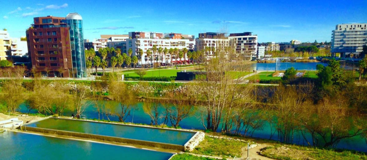 Port Marianne, non loin de la ZAC République à Montpellier