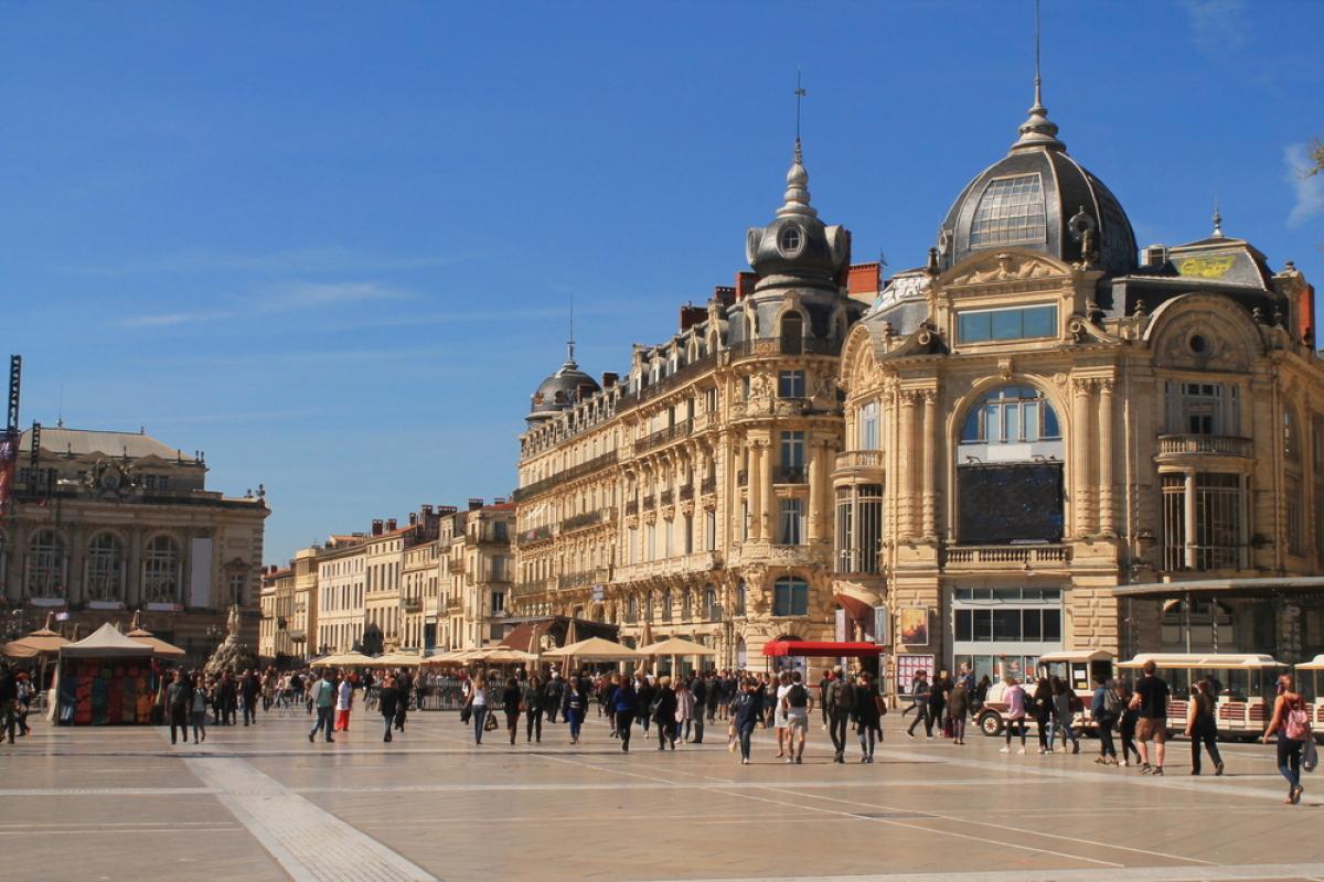 Histoire de Montpellier – vue sur la place de la Comédie