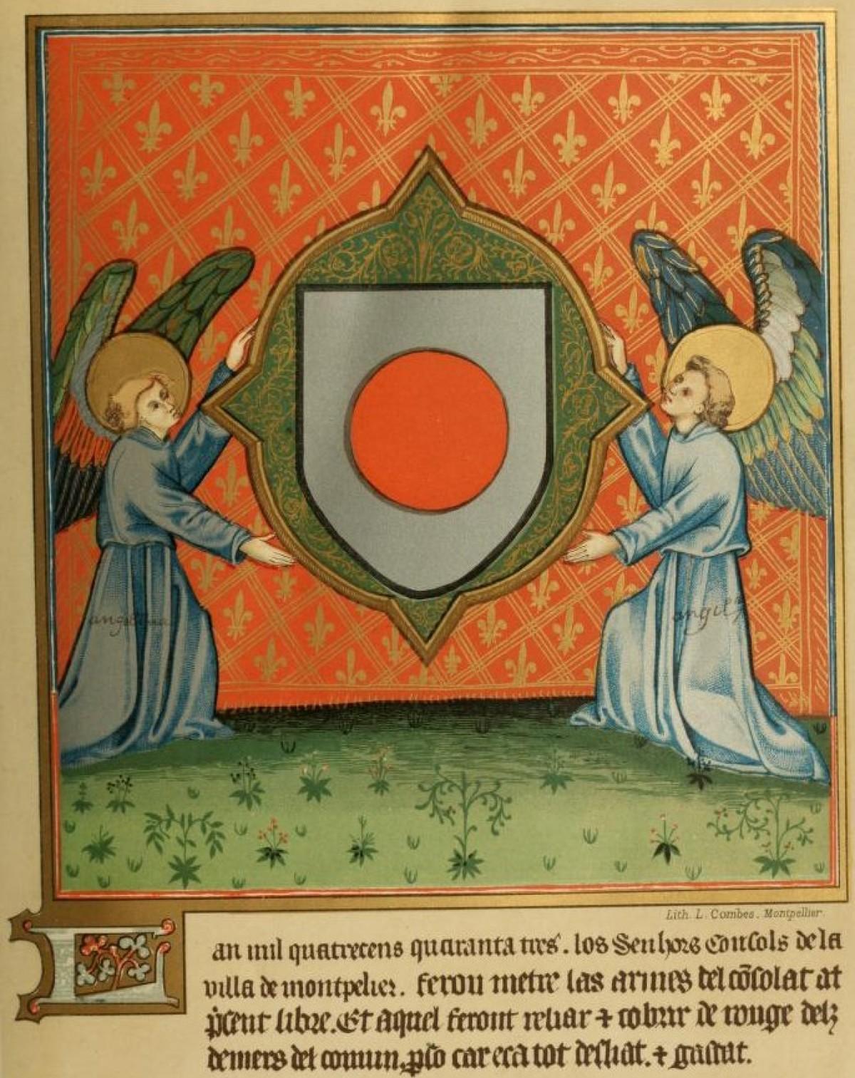 Histoire de Montpellier - Les Armes de Montpellier (1443)