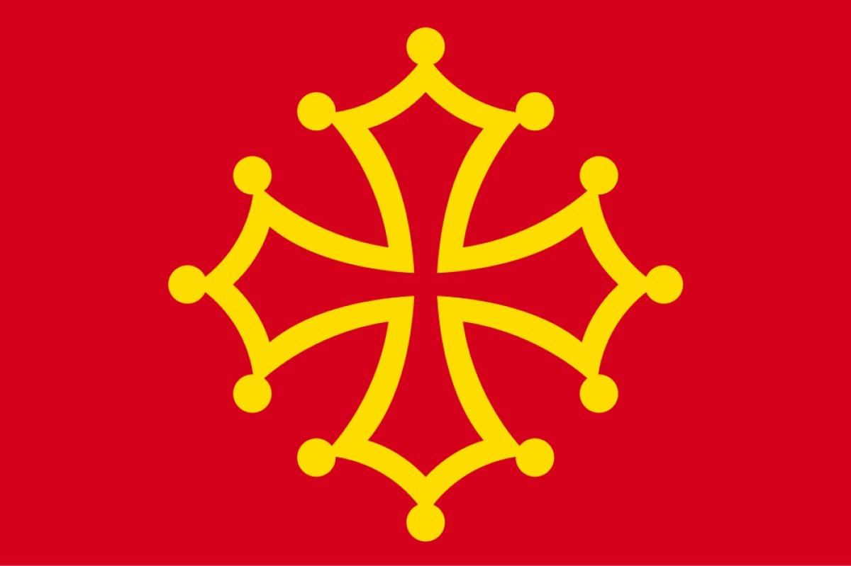 La langue occitane montpelliéraine - Drapeau Occitan