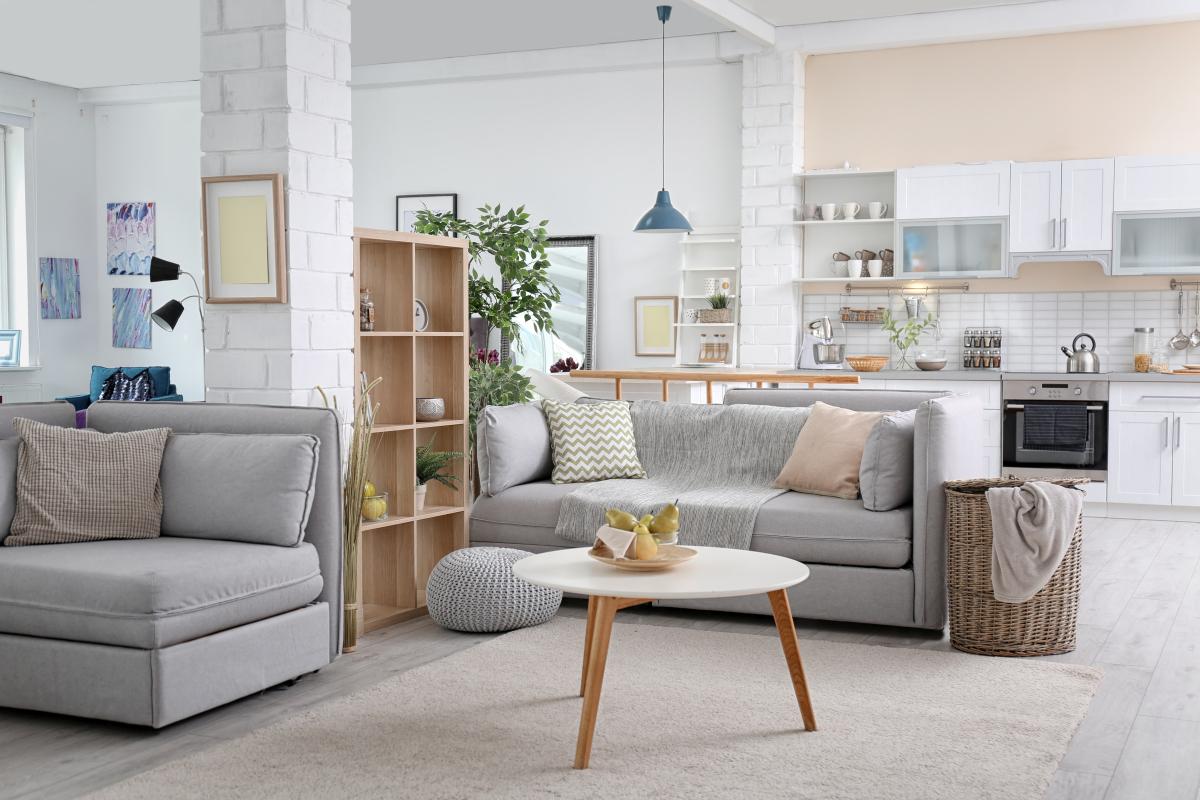 Louer un appartement à Montpellier - Intérieur meublé d'un appartement neuf moderne