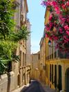 Louer un appartement à Montpellier - Vue d'une ruelle fleurie du centre de Montpellier