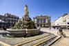 îlot de chaleur urbain à Montpellier – La place de la Comédie à Montpellier