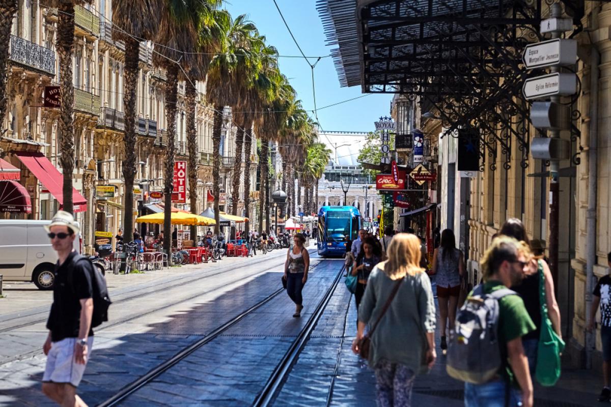 Fab City - vue sur le centre-ville de Montpellier